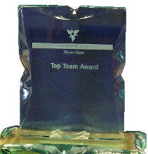 Top team award statue