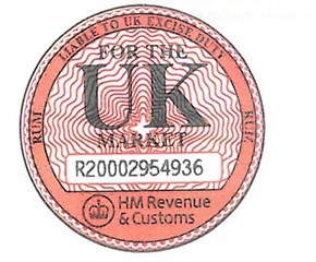 Duty stamp for spirits